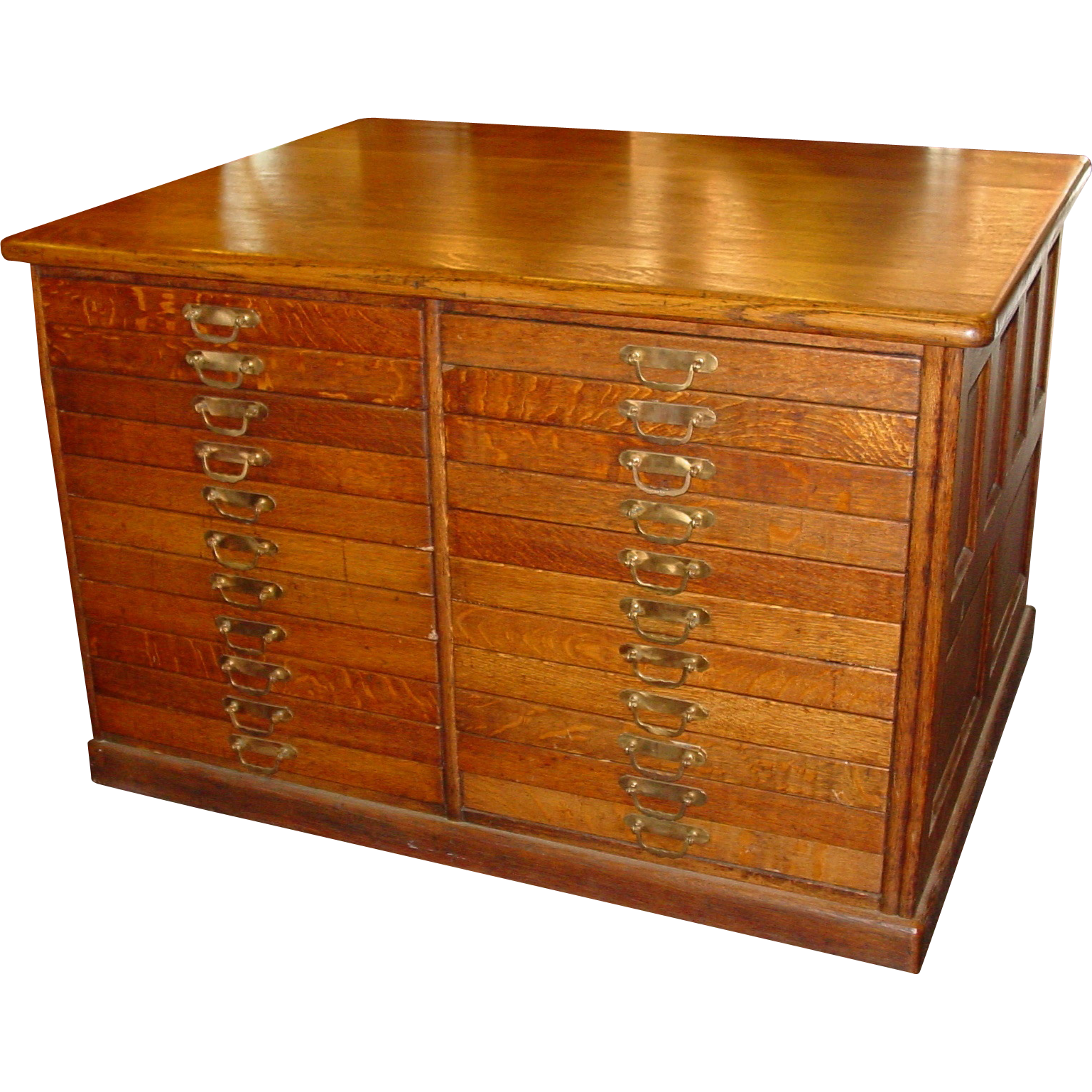 Quartered oak 44 drawer partners file work cabinet