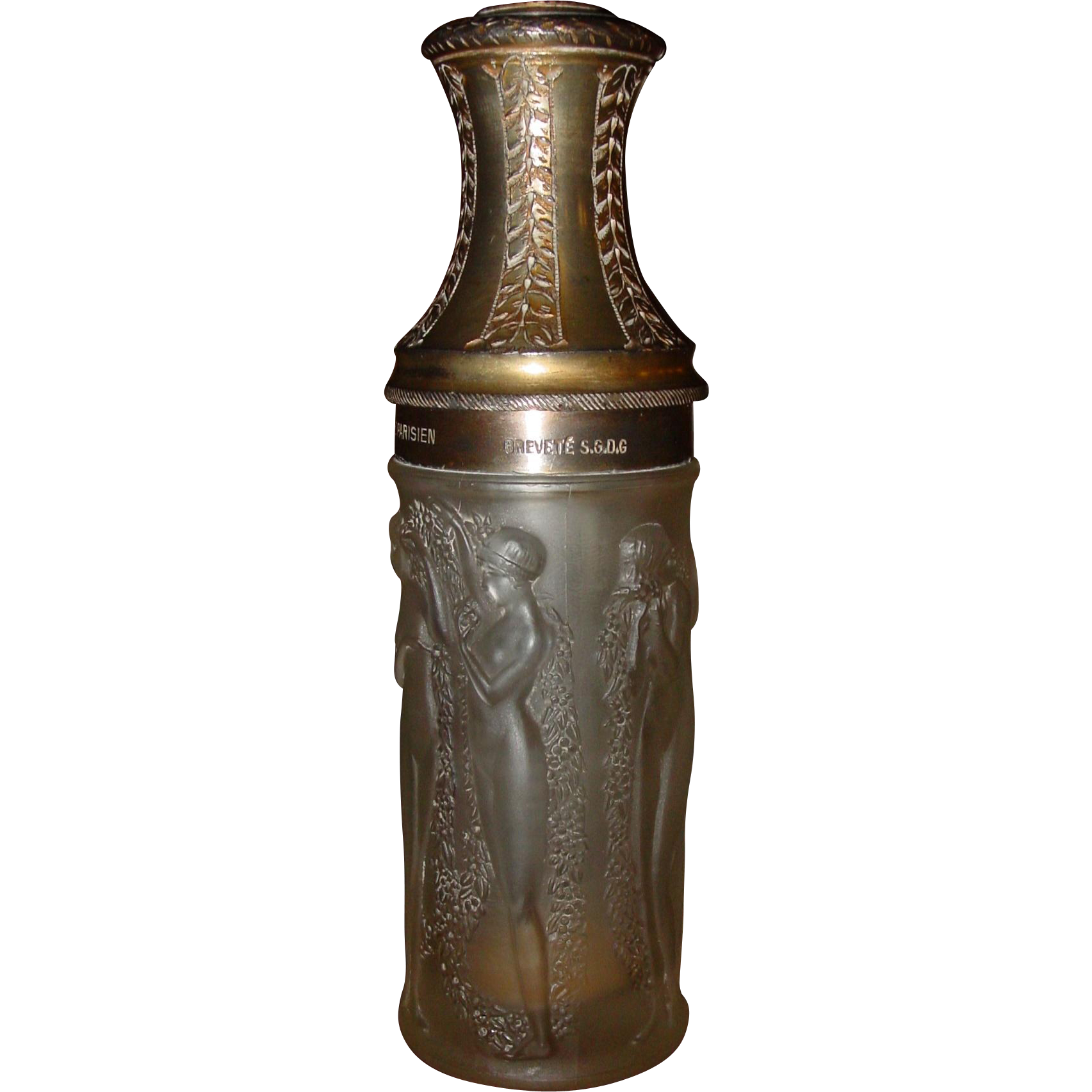R Lalique perfume bottle 'Drapee Dansant'