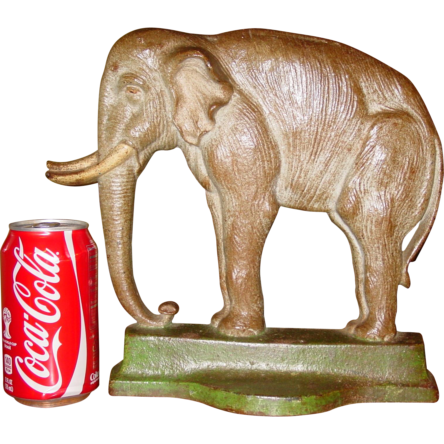 Large vintage cast iron elephant doorstop--Davison Co