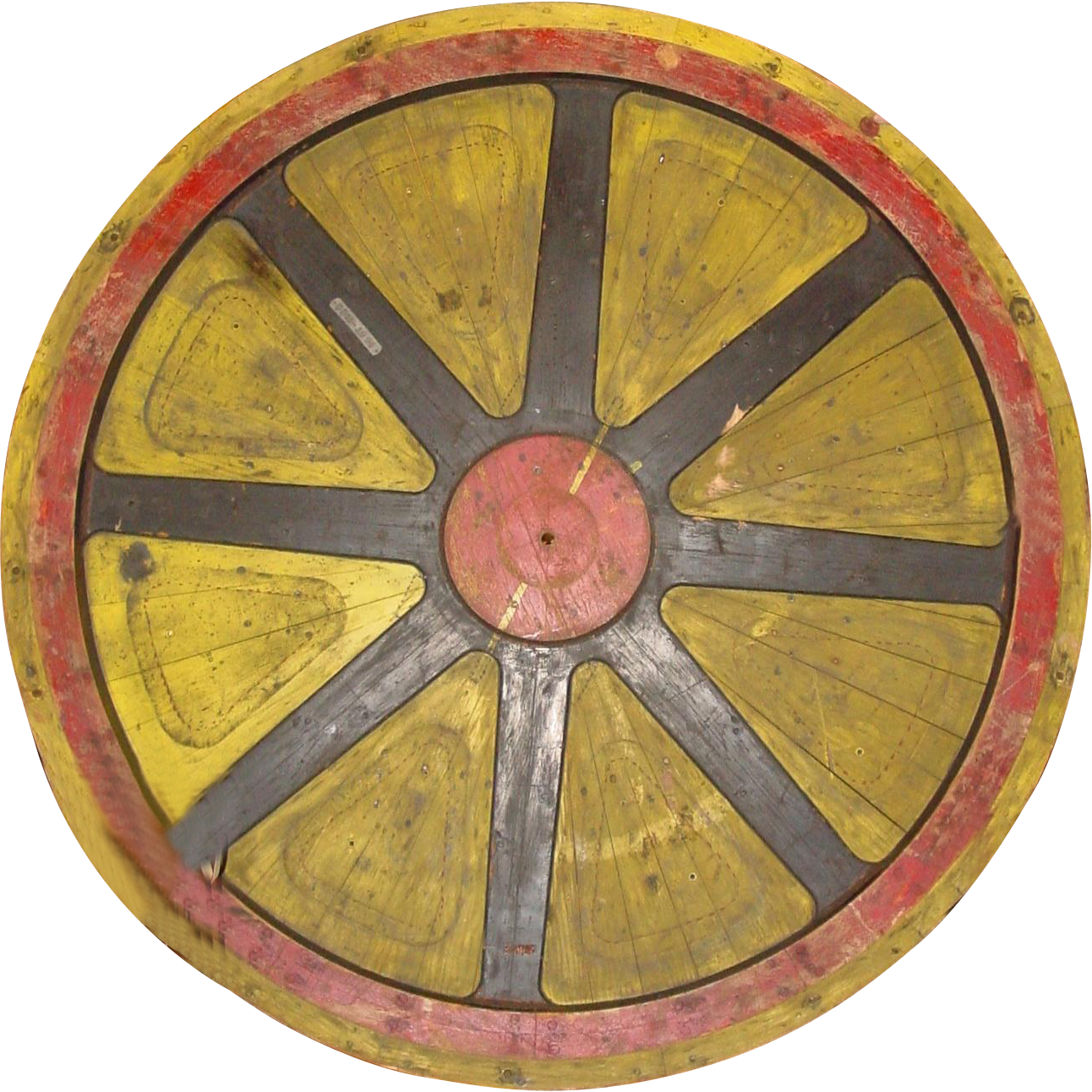 LARGE wooden industrial wheel cog mold--77 inchdiameter