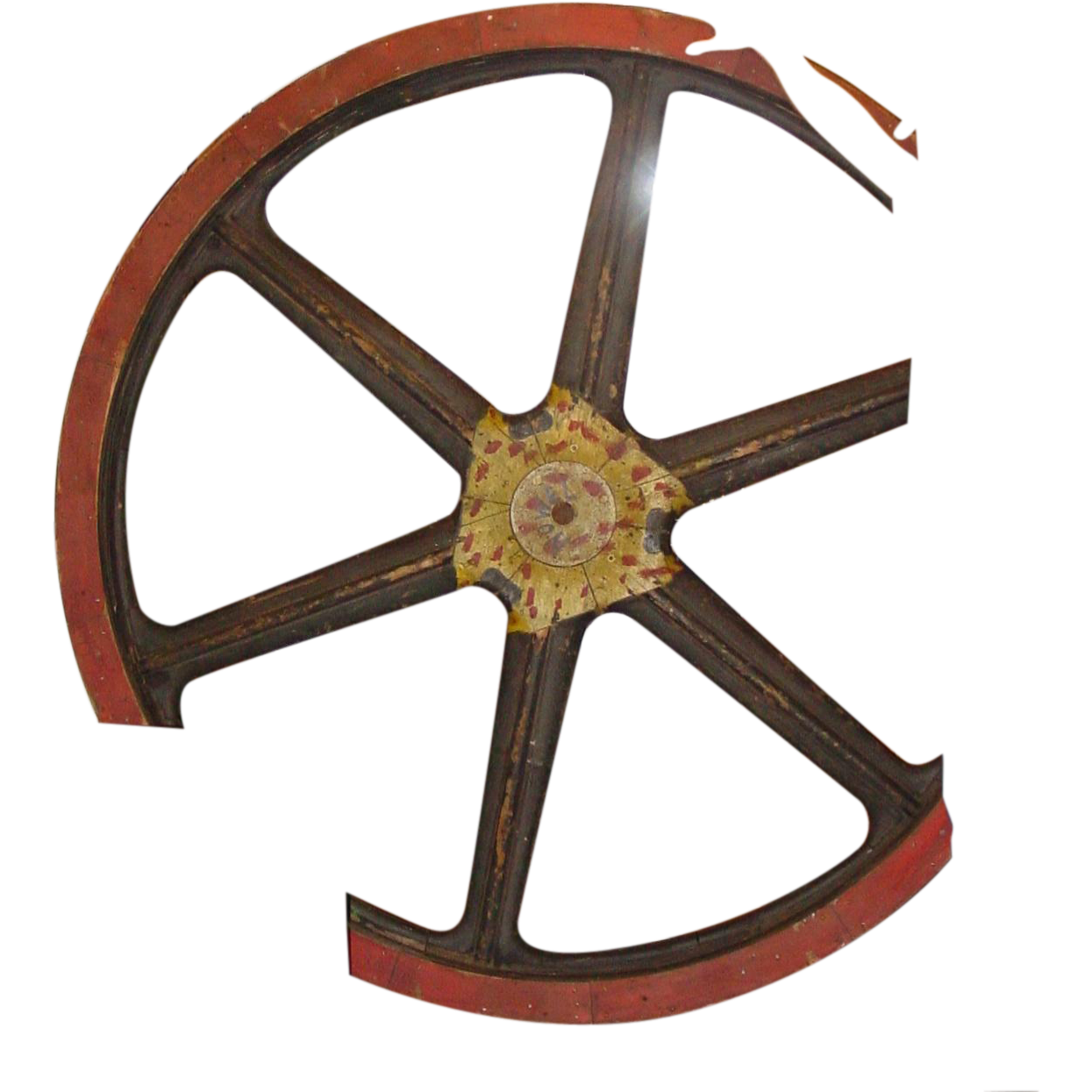 77 inch diameter wooden industrial factory wheel cog