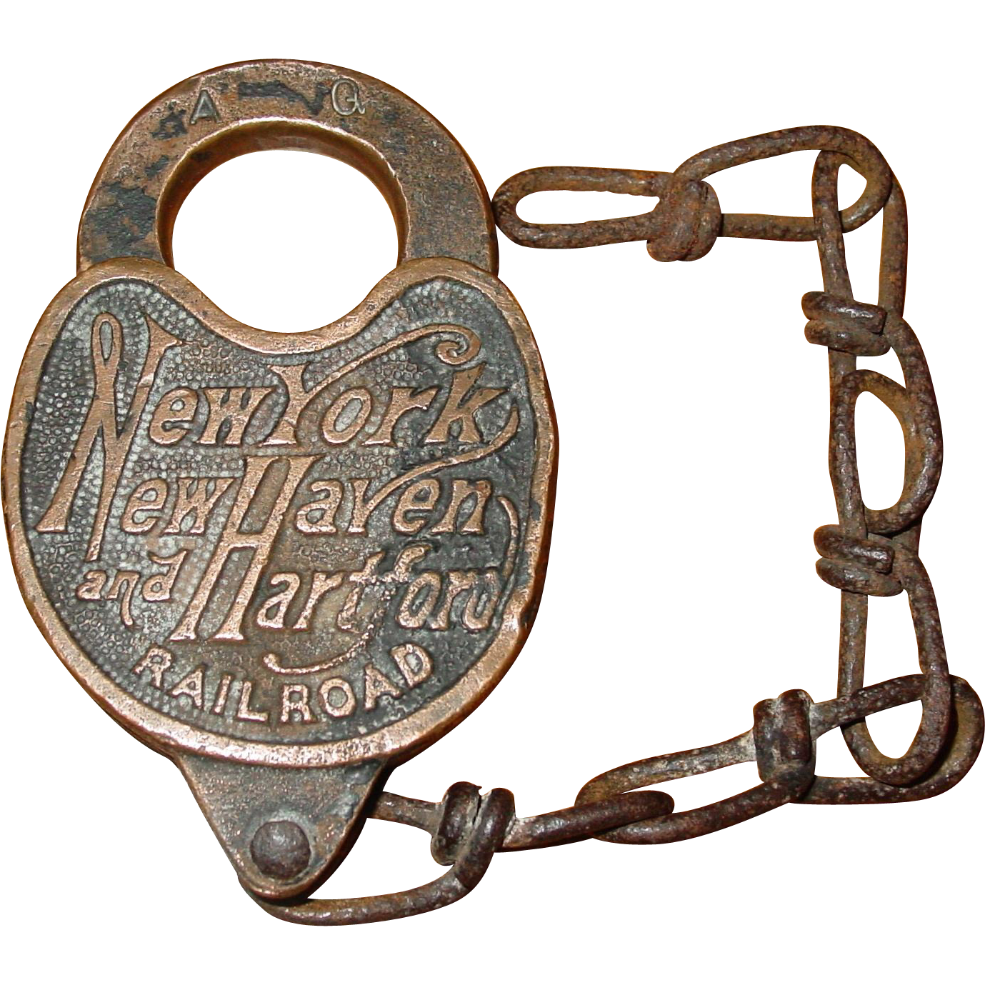 NY New Haven Hartford railroad padlock