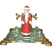 Great German cast iron antique Santa Christmas tree stand