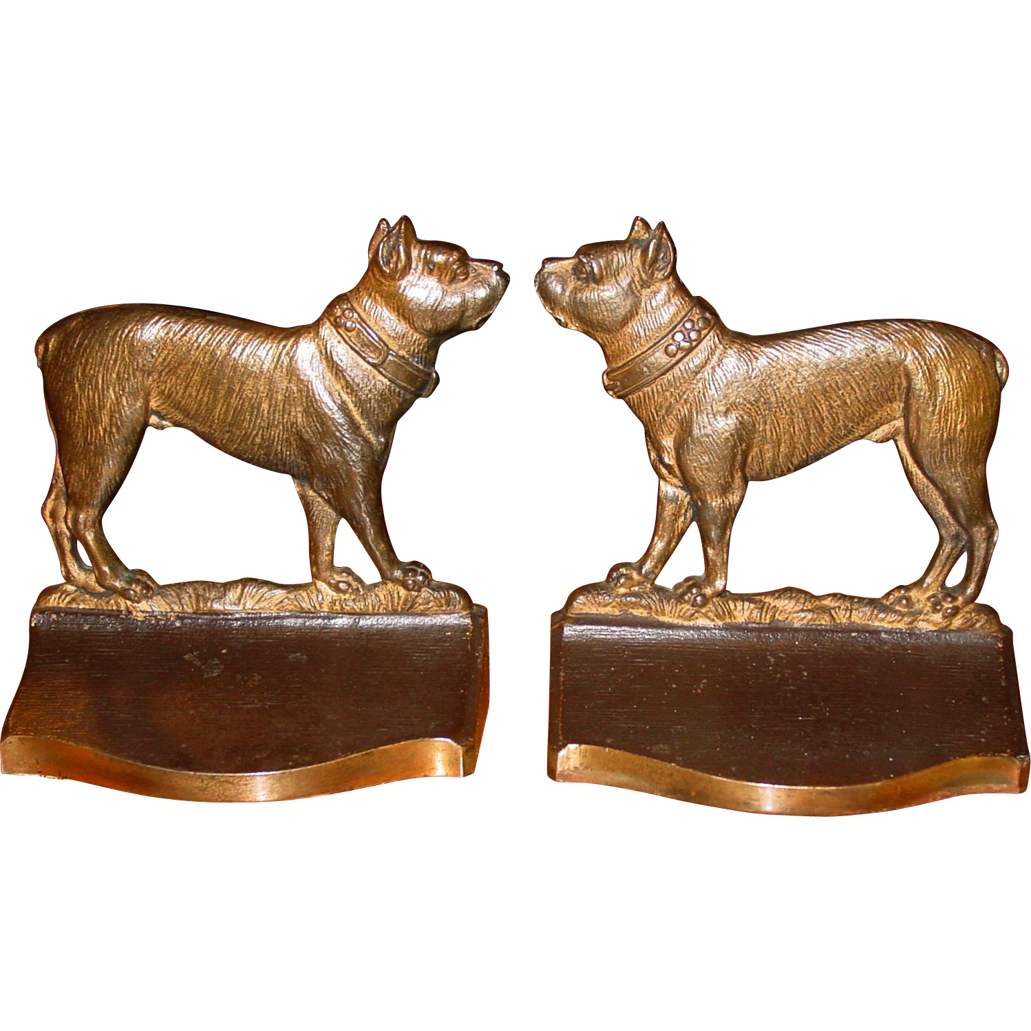 Cast iron terriers dog bookends-Bradley & Hubbard