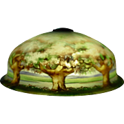 Signed Pairpoint table parlor lamp---trees and hills