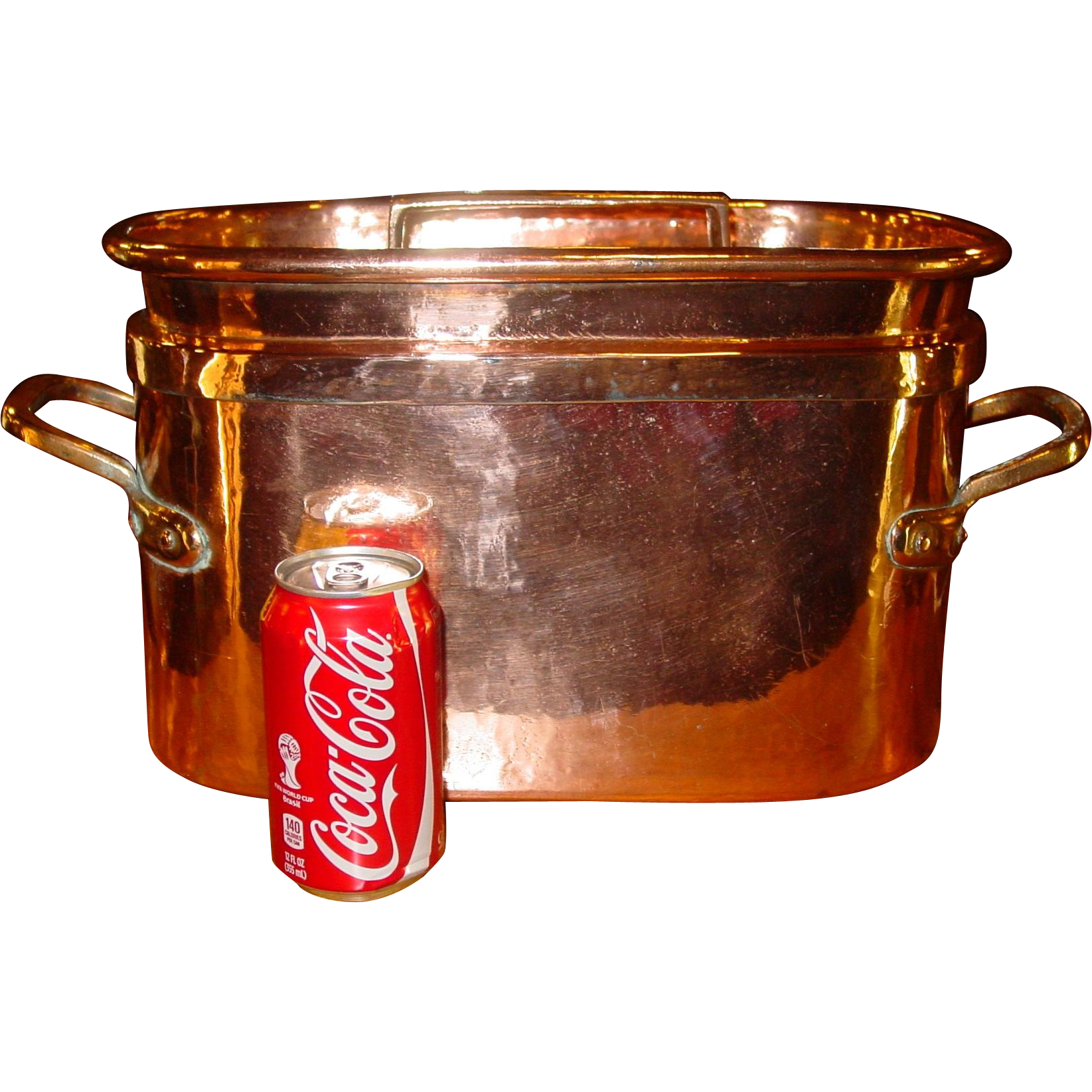 Fabulous antique copper French roaster with lid cookware