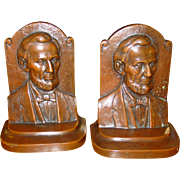 Bronze bookends Abraham Lincoln---Jennings Bros.