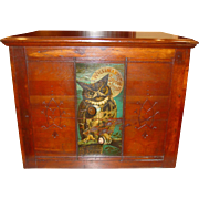 6 drawer Willimantic spool cabinet with owl and raised panels