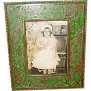 Tiffany Studios picture frame grapevine pattern
