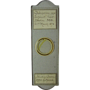 Desirable 1876 HMS Challenger scientific microscopic slide