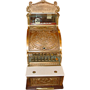 Brass National cash register---small size---candy store or barber shop