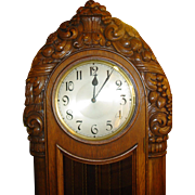 Fine German three weight tall case grandfather clock