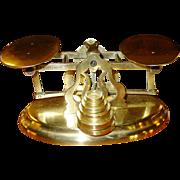 Brass postal letter desk scale-Mordan & Co.---1880s