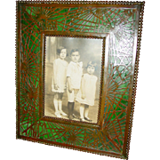 Very fine Tiffany Studios picture frame-Pine needle pattern