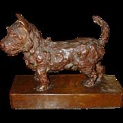 Edith Parsons bronze Scottish terrier dog sculpture----signed