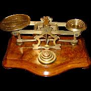 Antique Letter postal desk scale-Mordan-engraved and dated 1861