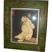 Large Tiffany Studios picture frame-pine needle pattern