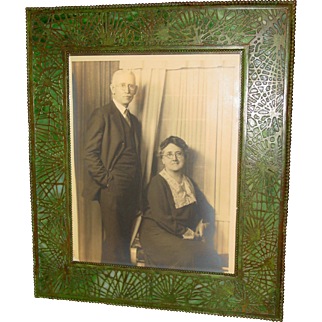 Large Tiffany Studios picture frame pine needle pattern---match to 15316