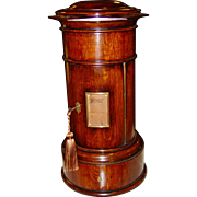 Exceptional Quartered oak cylinder style postal letter box
