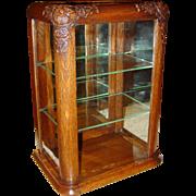 Rare NOKA quartered oak country store gum display case