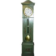 19th century French painted tall case clock