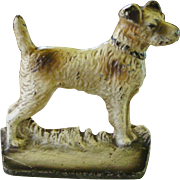 Cast iron fox terrier dog doorstop