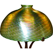 Fine Tiffany Studios Favrile and bronze lamp