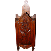 Unusual carved French salt or flour box