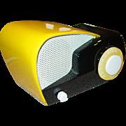 Neat Philco Transitone yellow and black radio