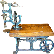 Marklin iron & wood toy live steam engine drill press