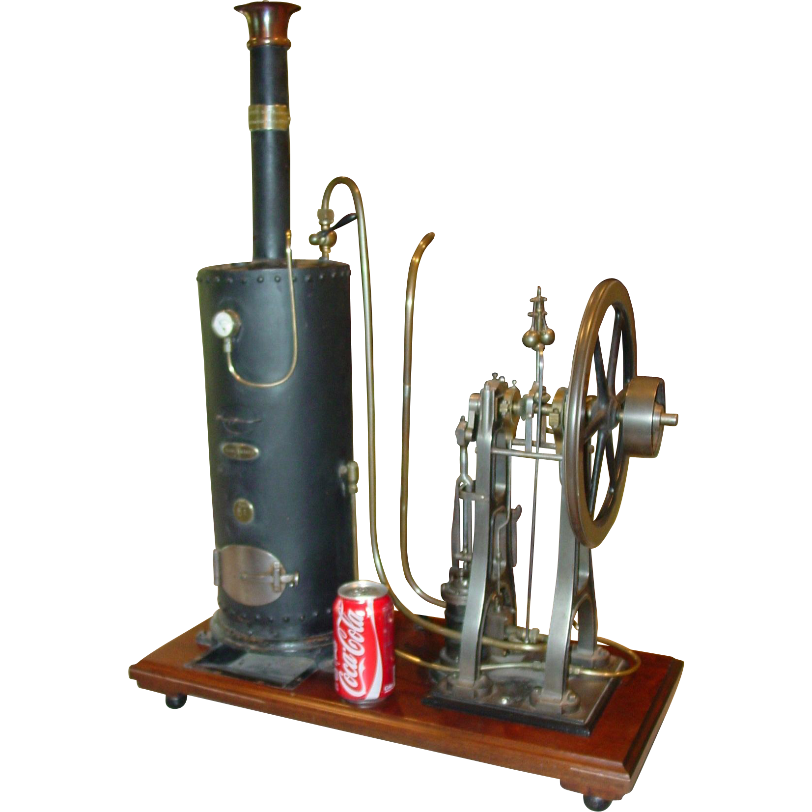 Superior antique French live steam engine--dated 1889