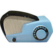Neat blue and black vintage Philco radio-Boomerang style