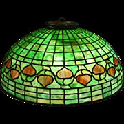 Antique Tiffany Studios Acorn leaded glass parlor table lamp