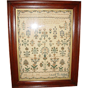 School girl Needlwork sampler Mary Marchant---1843