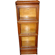 Great HALF size oak barrister bookcase - MACEY