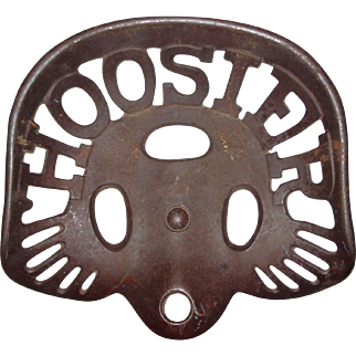 Neat antique HOOSIER cast iron tractor seat