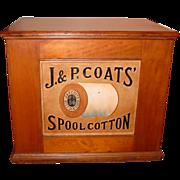 Cherry J & P COATS 6 drawer spool thread cabinet