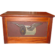 Rare 4 drawer Willimantic spool thread cabinet flying spool