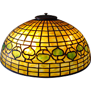 Tiffany Studios leaded glass table lamp-Acorn pattern