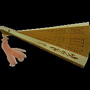 Sweet Sandalwood & Bone Folding Hand Fan - Red Tag Sale Item
