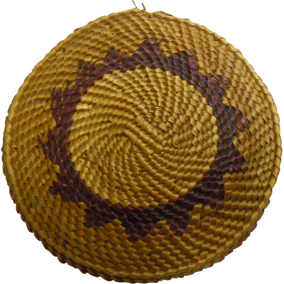 "Nicely Woven Native American 3.75"" Mini Papago w/ Red & Purple Accents"