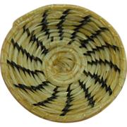 Adorable Miniature Native American Woven Horsehair Papago Basket