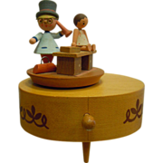 Vintage Doctor Theme Wooden Reuge Music Box Swiss Movement