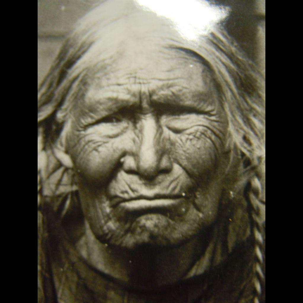 Black & White Native American Indian Old Women