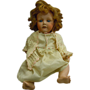 """Antique Blue-Eyed Nippon Bisque 18"""" Doll"""