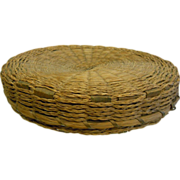 Original 1890 Mohawk Native American Lidded Basket - Black Ash & Sweetgrass