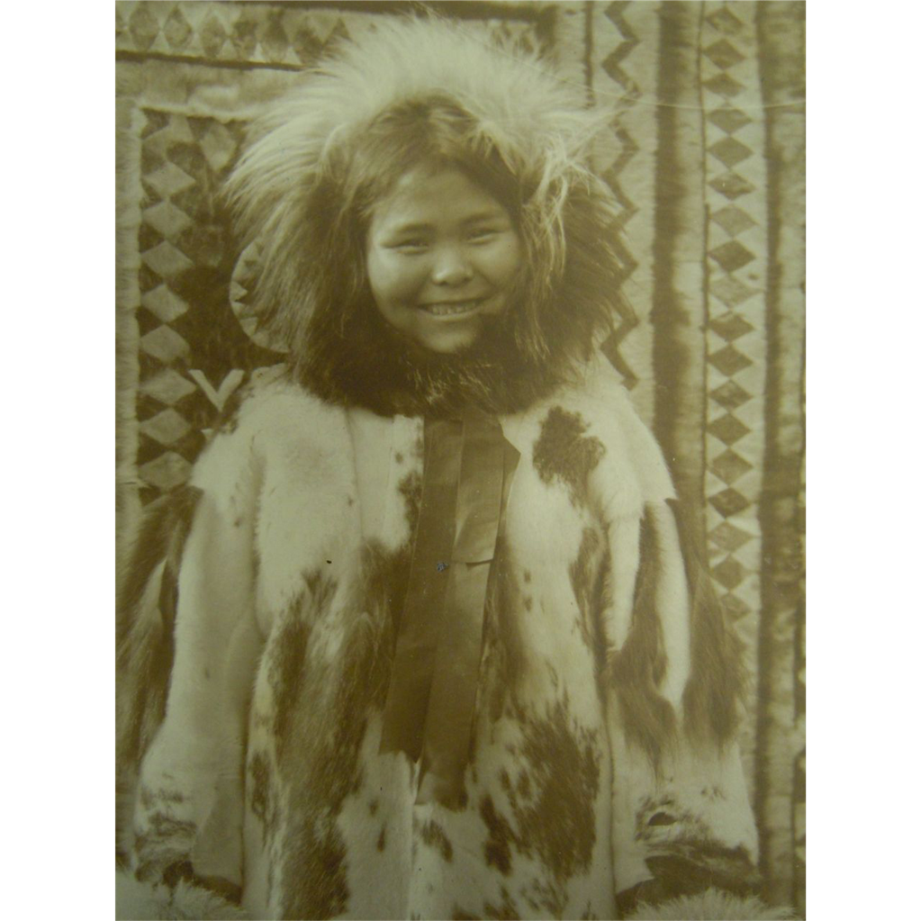 Original Vintage B&W Photograph Smiling Native American Child