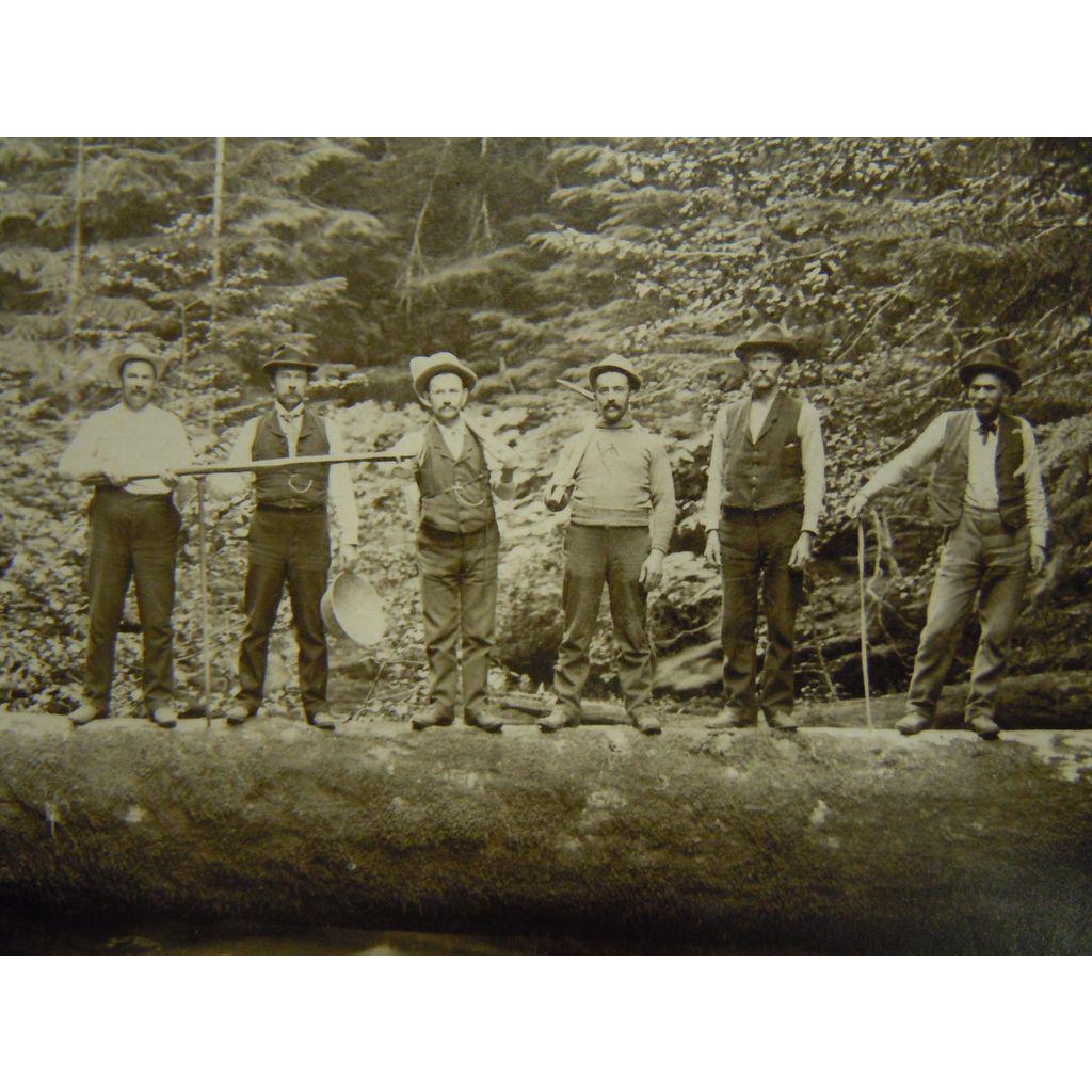 Original Antique B&W Photograph Meiser Vancouver, Washington - West Fork of Lewis River