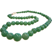 Natural Aventurine Graduated Bead Necklace