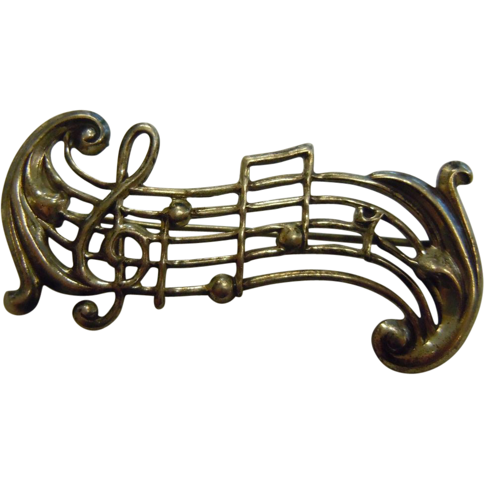 Silver Music Notes Png